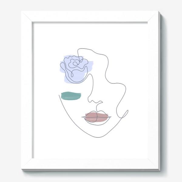 Картина «Девушка роза 3. Непрерывная линия»