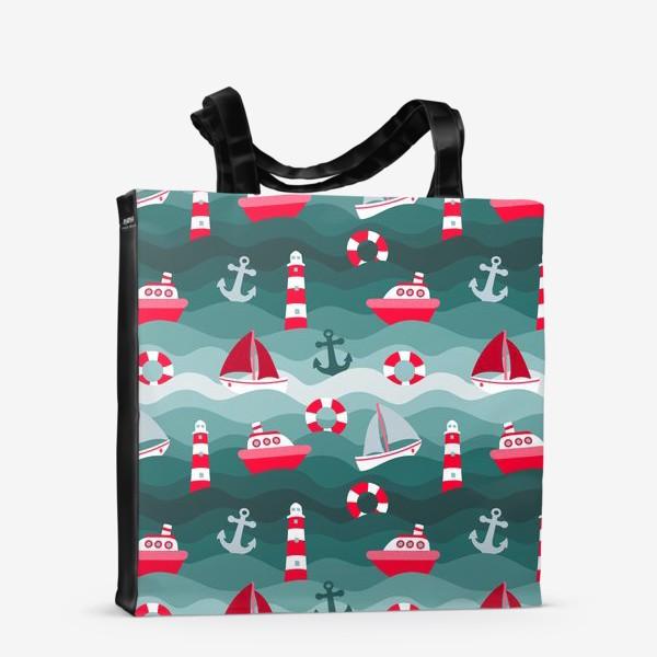 Сумка-шоппер «Морской детский принт»