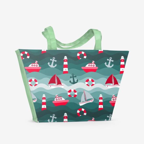 Пляжная сумка «Морской детский принт»