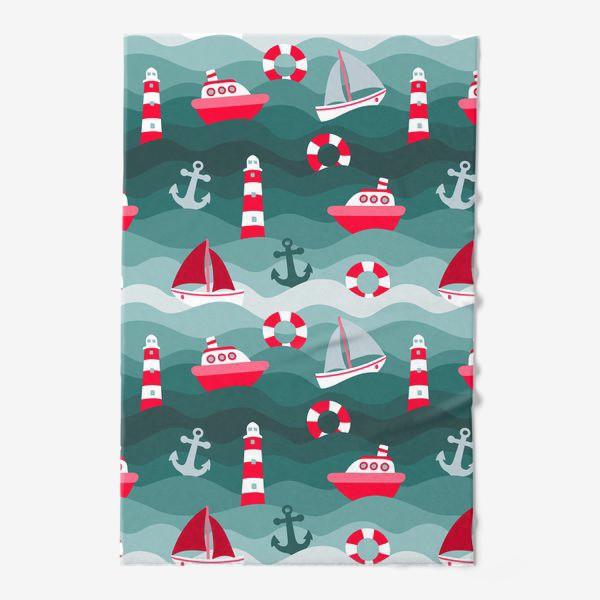 Полотенце «Морской детский принт»