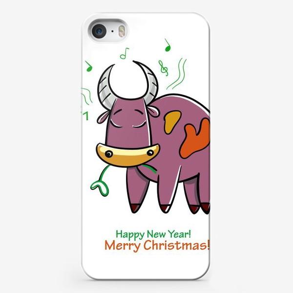 Чехол iPhone «Музыкальный бычок»