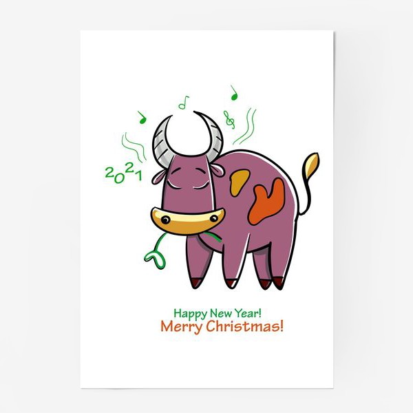 Постер «Музыкальный бычок»
