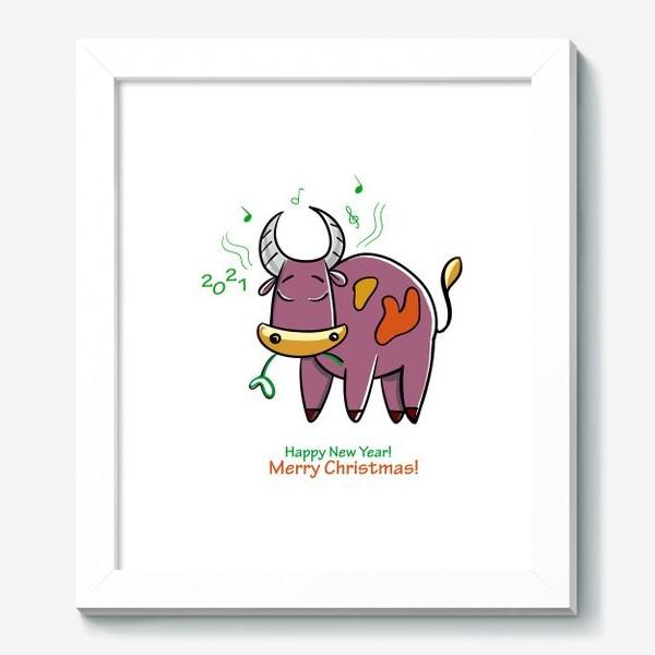 Картина «Музыкальный бычок»