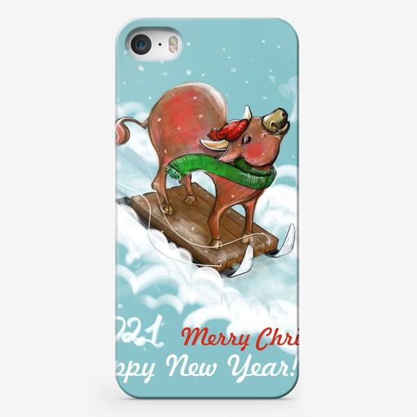 Чехол iPhone «С горки на санках!»