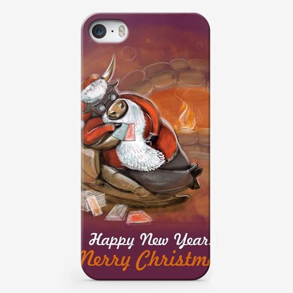 Чехол iPhone «Санта Клаус отдыхает»