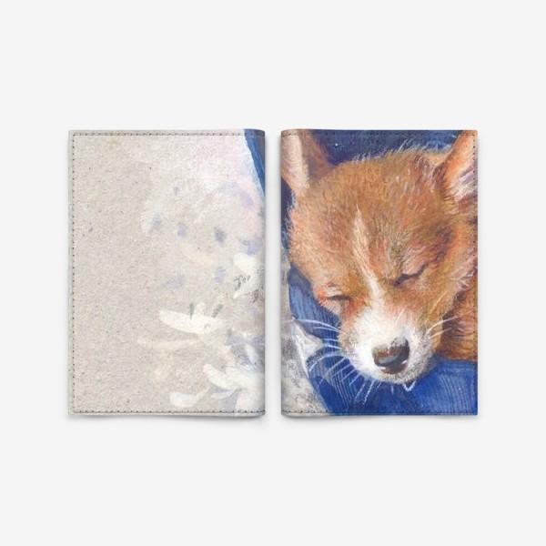 Обложка для паспорта «Малыш корги . щенок ,подарок»
