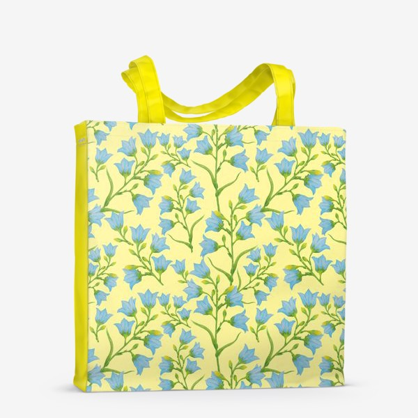 Сумка-шоппер «Колокольчики на желтом фоне»