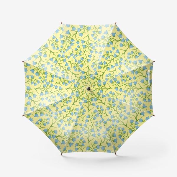Зонт «Колокольчики на желтом фоне»