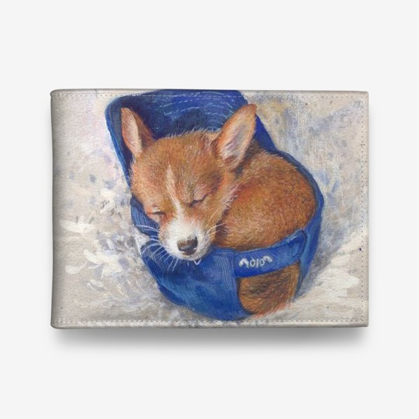 Кошелек «Малыш корги . щенок ,подарок»