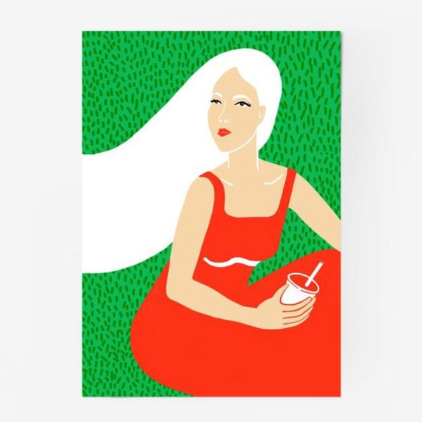 Постер «ДЕВУШКА НА ПИКНИКЕ»