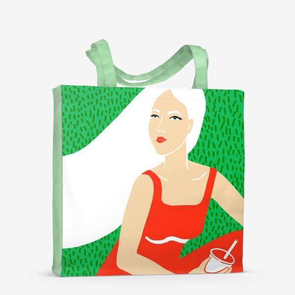 Сумка-шоппер «ДЕВУШКА НА ПИКНИКЕ»