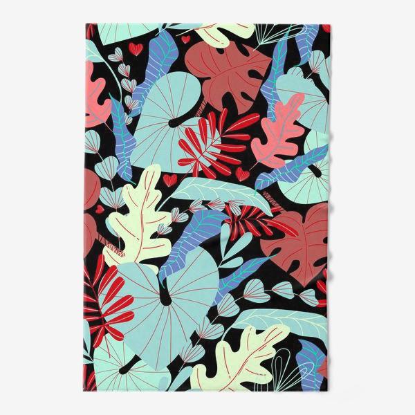Полотенце «тропические листья»