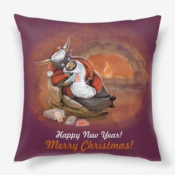 Подушка «Санта Клаус отдыхает»