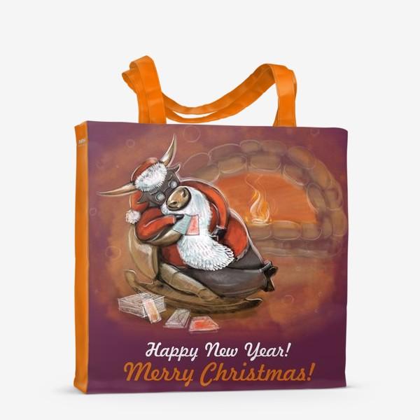 Сумка-шоппер «Санта Клаус отдыхает»