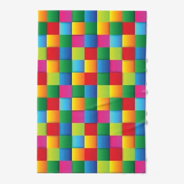 Полотенце «Яркие квадраты»