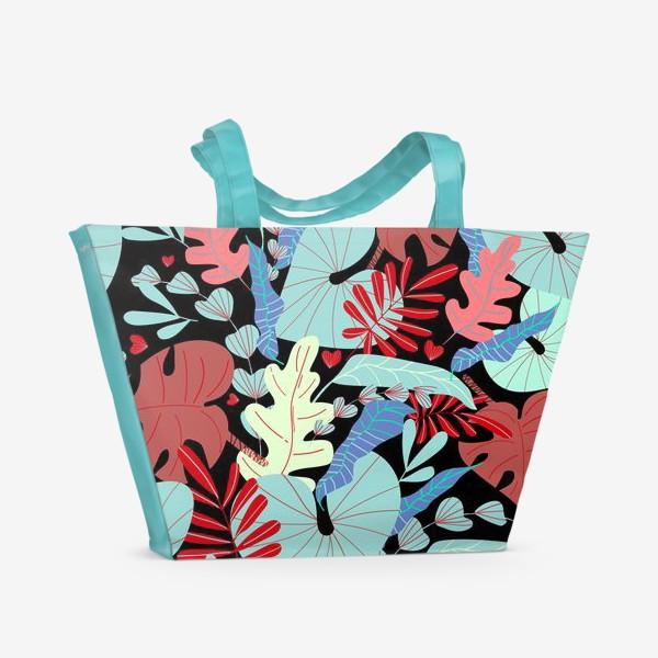 Пляжная сумка «тропические листья»