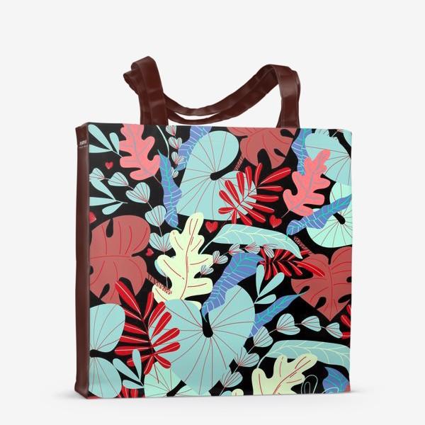 Сумка-шоппер «тропические листья»