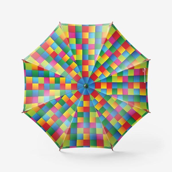 Зонт «Яркие квадраты»