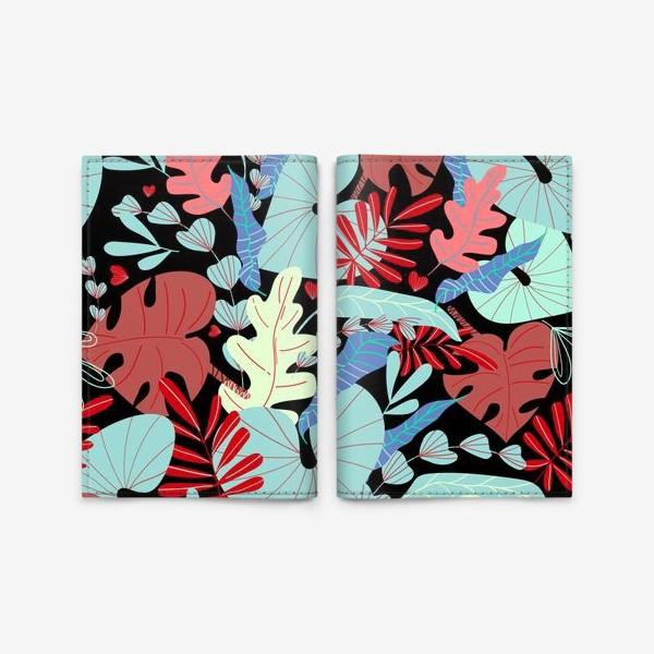 Обложка для паспорта «тропические листья»