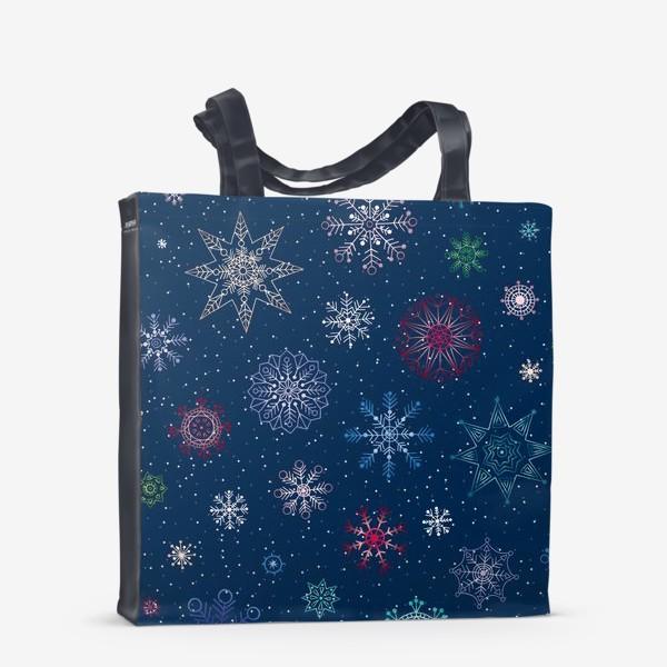 Сумка-шоппер «Снежинки»