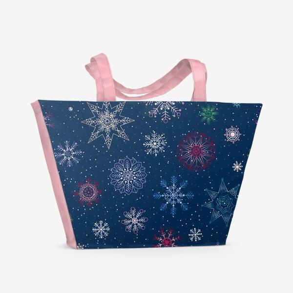 Пляжная сумка «Снежинки»