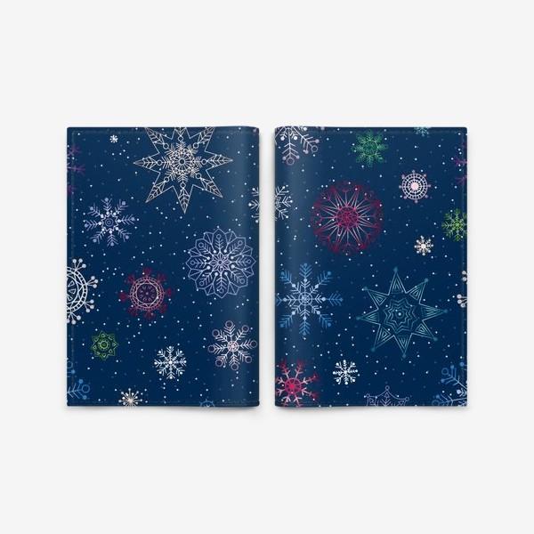 Обложка для паспорта «Снежинки»