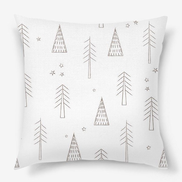 Подушка «ёлочки в лесу»