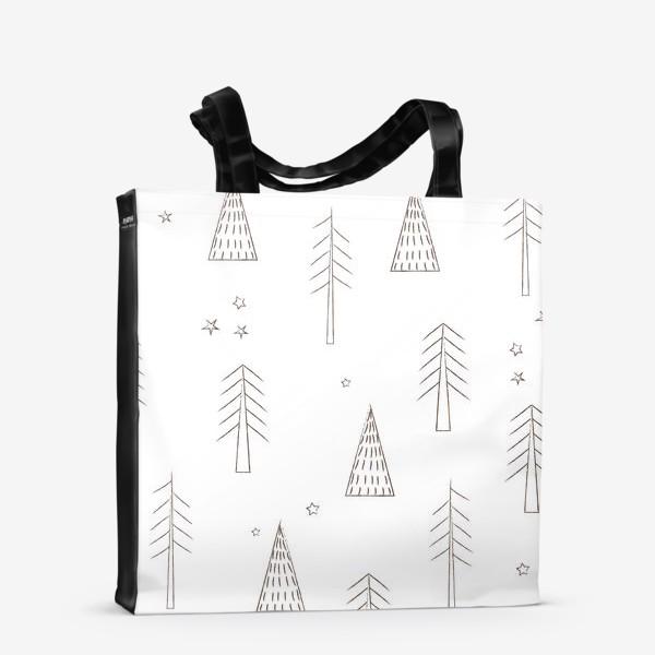 Сумка-шоппер «ёлочки в лесу»