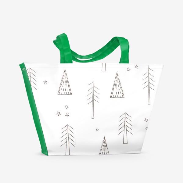 Пляжная сумка «ёлочки в лесу»