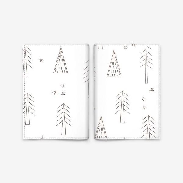 Обложка для паспорта «ёлочки в лесу»