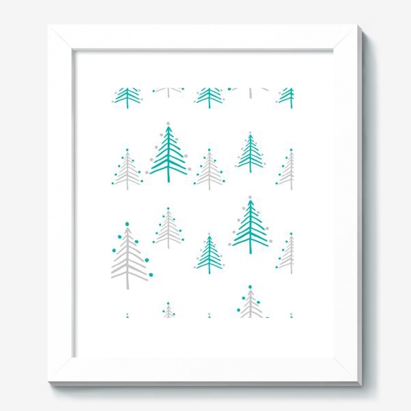 Картина «Новогодний паттерн, минималистичные ёлочки»