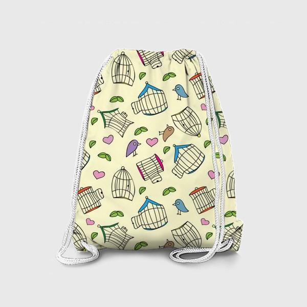 Рюкзак «Любовь и птички»
