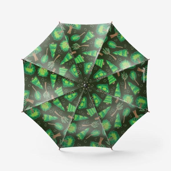 Зонт «Лесной паттерн»