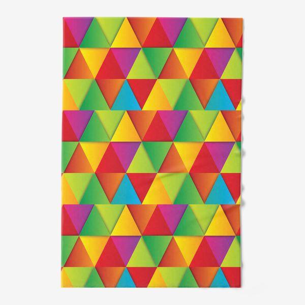 Полотенце «Яркие треугольники»