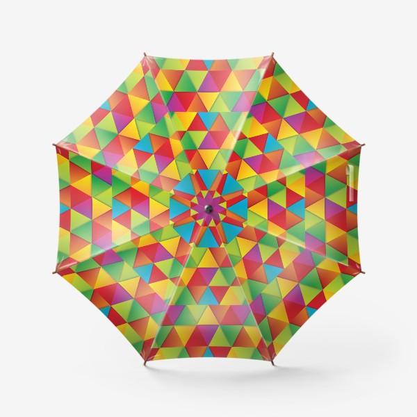 Зонт «Яркие треугольники»