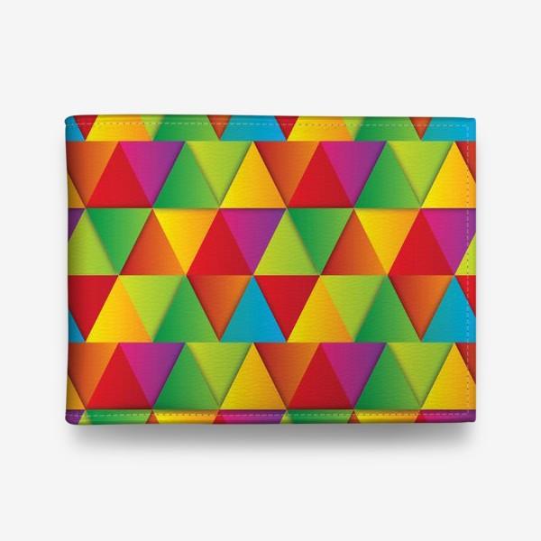 Кошелек «Яркие треугольники»
