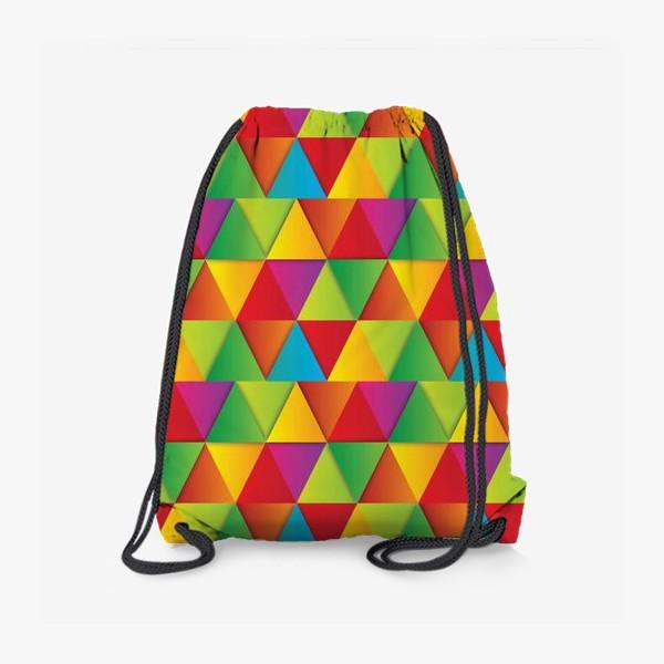 Рюкзак «Яркие треугольники»