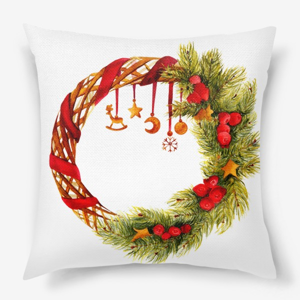 Подушка «Новогодний венок»