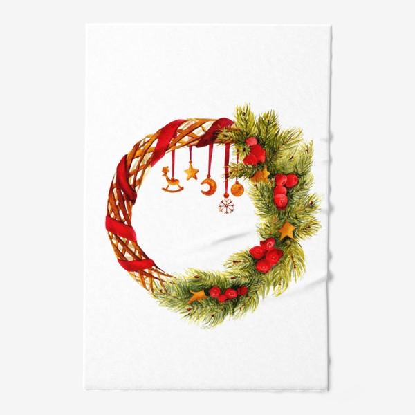 Полотенце «Новогодний венок»