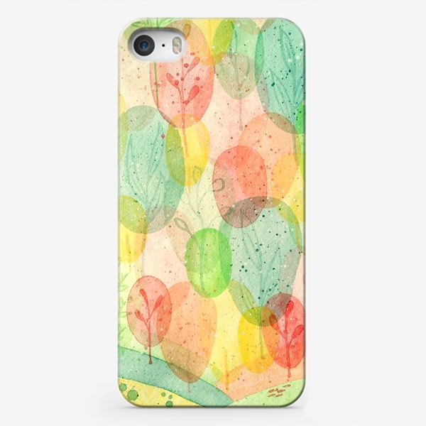 Чехол iPhone «Осенний лес. Акварель.»
