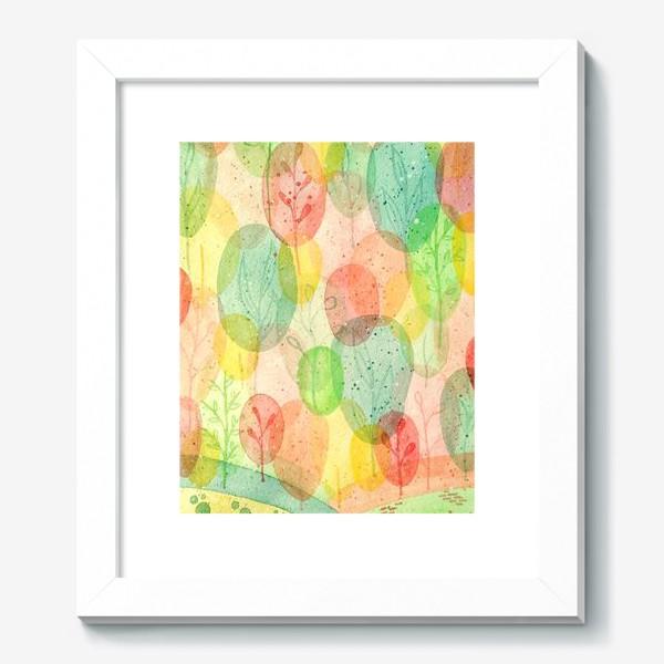 Картина «Осенний лес. Акварель.»