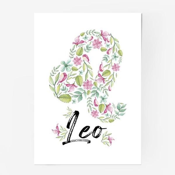 Постер «Знак Зодиака Лев»