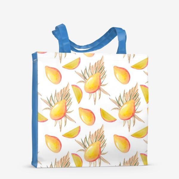 Сумка-шоппер «Манго и листья. тропический паттерн»