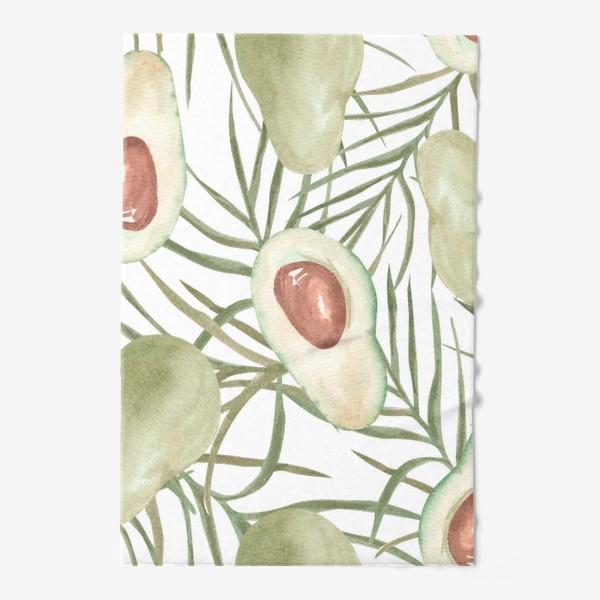 Полотенце «Авокадо с листьями пальмы. паттерн»