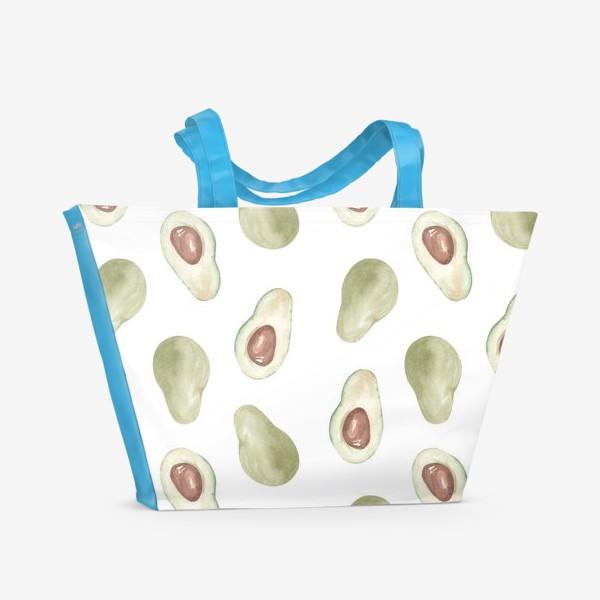 Пляжная сумка «Авокадо паттерн»