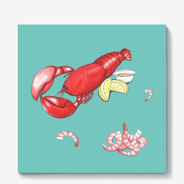 Холст «Морепродукты»