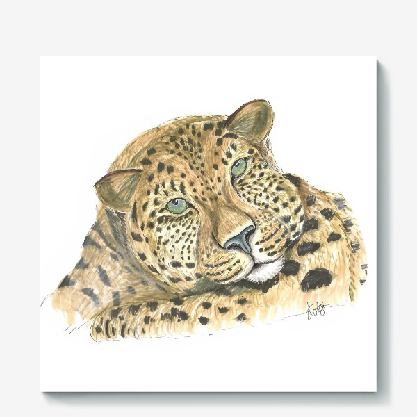 Холст «Задумчивый ягуар»