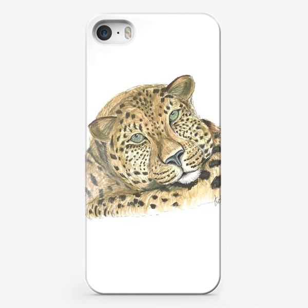 Чехол iPhone «Задумчивый ягуар»