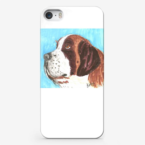 Чехол iPhone «Грустный пес»