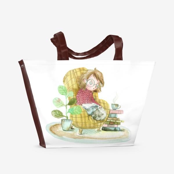 Пляжная сумка «Уютный вечер»